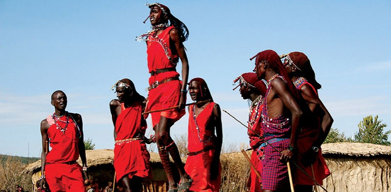 masai warriors jumping