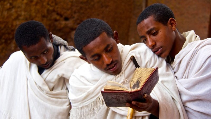 Lalibela choir boys, Ethiopia