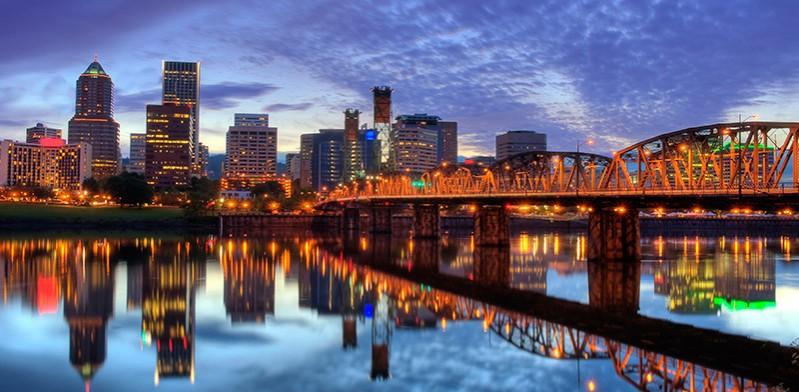 Waterfront of Portland Oregon United States
