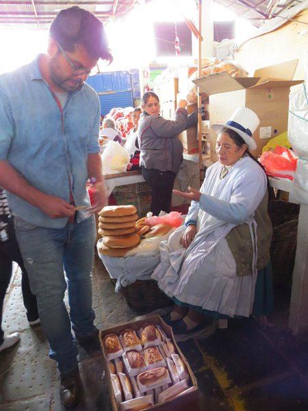 Alejandro at Mercado de San Jose in Cuzco Peru