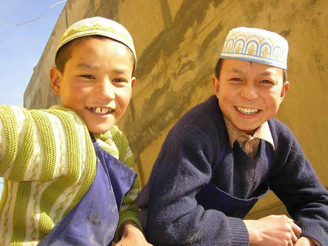 Hui muslim boys in Gansu province China