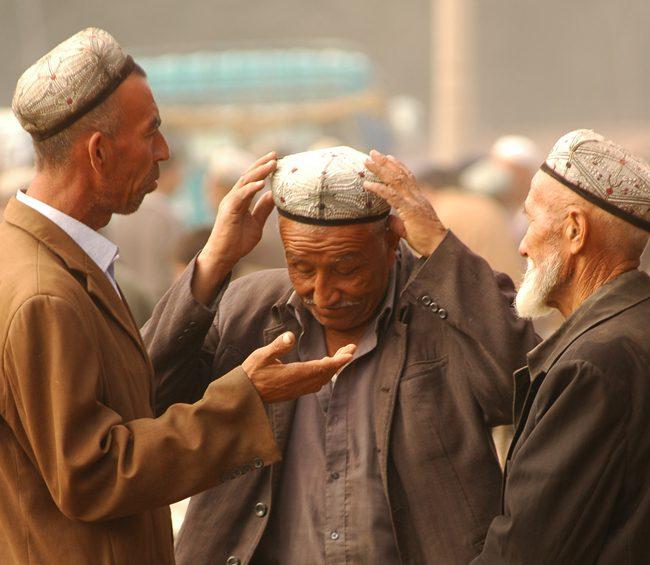 men at Kashgar market China