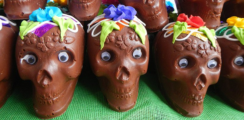 Dad of the Dead chocolate skulls in Mexico