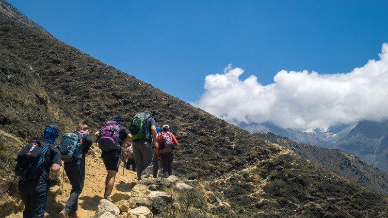 Travellers trek to Everest Basecamp