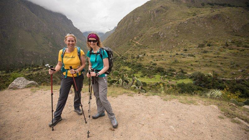 Travellers trek to Machu Picchu