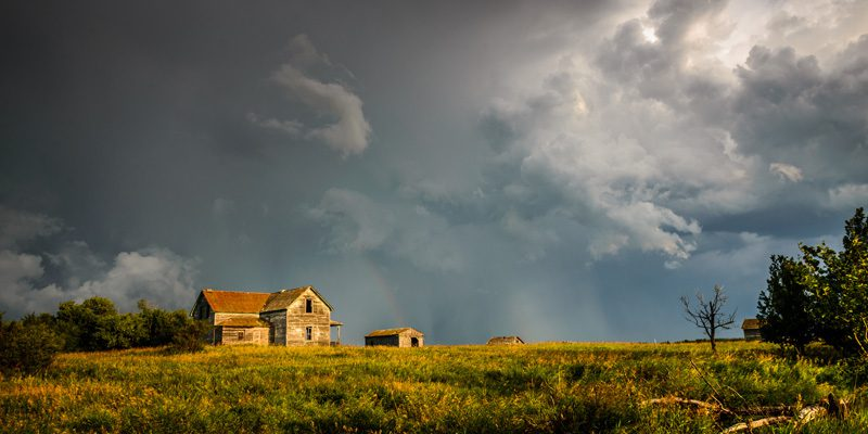 alberta homestead on the prairies - credit Brendan Bell