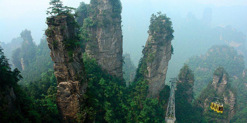 The so-called 'Avatar Mountains' of Zhangjiajie. Credit John Philip