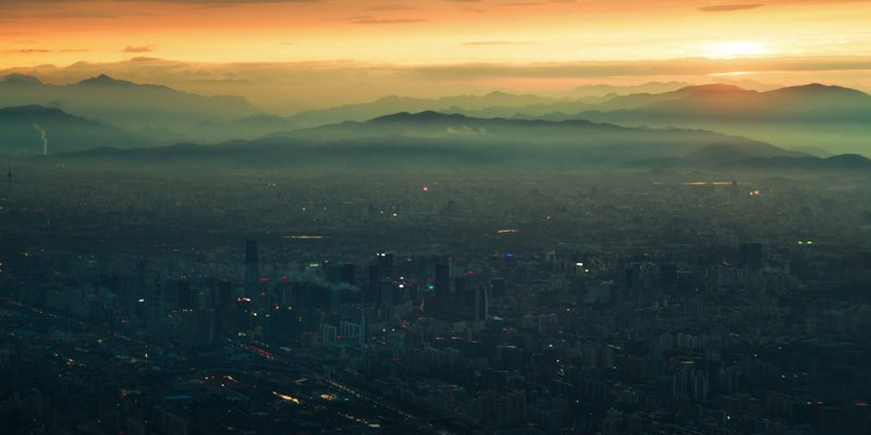 The evening sky over Beijing. Credit Jonathan Kos-Read