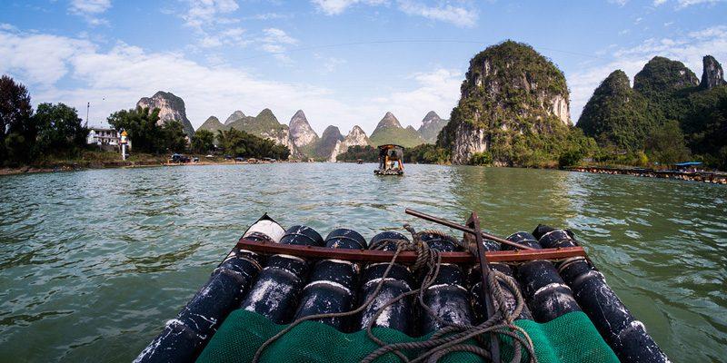 Paddling along the river in Guanxi. Credit ilya