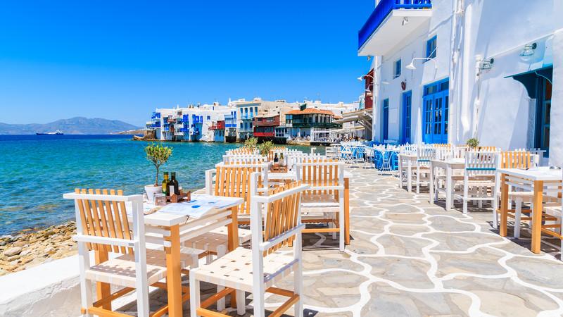 A tavern in Mykonos