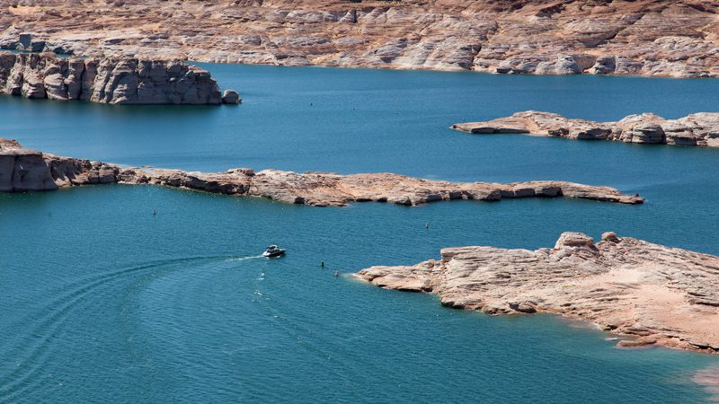 The blue waters of Lake Powell. Image grosgerald58, Flickr