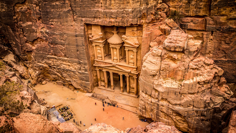 Overlooking The Treasury in Petra