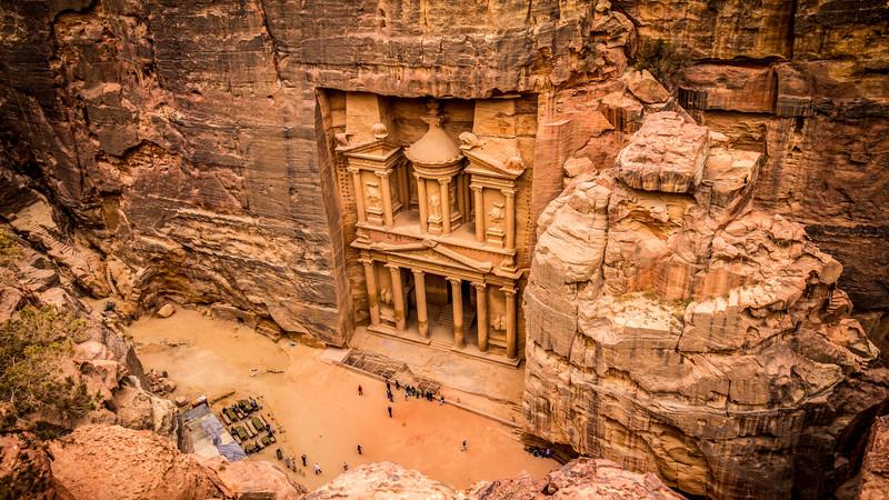 Overlooking The Treasury in Petra