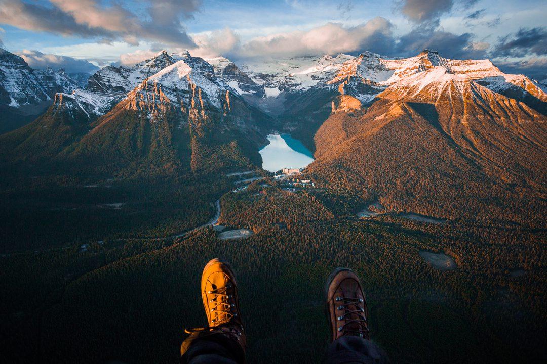 Lake Louise Aerial, Alberta