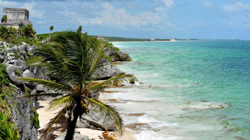 Tulum – a ruin with a view. Image Karen, Flickr