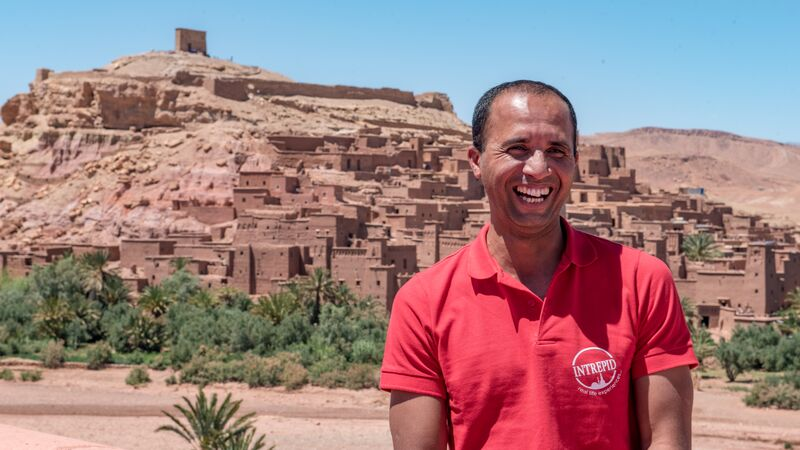 Intrepid local leader Tariq in Ait Benhaddou