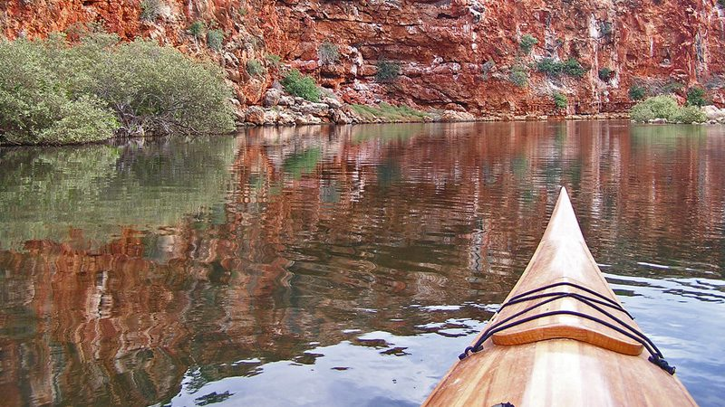 Kayaking through Cape Range National Park. Image Sallelee, Flickr