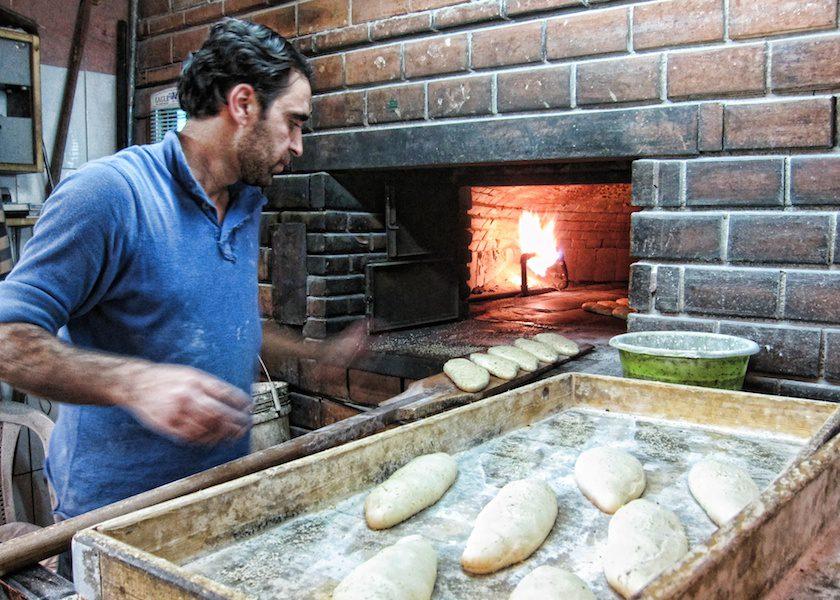 Baking bread in Amman by Sherry Ott