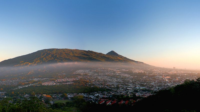 El Salvador - The morning mists over capital city San Salvador. Image Diego Brito, Flickr