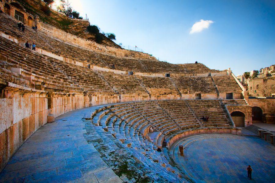 Roman amphitheater Amman by Sherry Ott