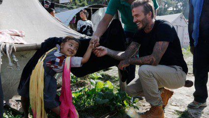 Mend it like Beckham: Intrepid works with soccer superstar to get Nepal back on its feet
