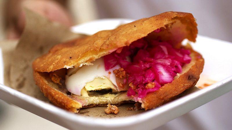 mexican street foods -gordita co bionicgrrrl Flickr