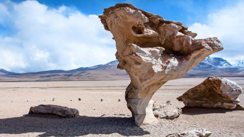 Strange rock formation in Salar de Uyuni