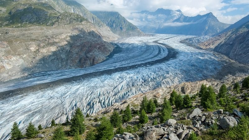 glaciers disappearing---aletsch