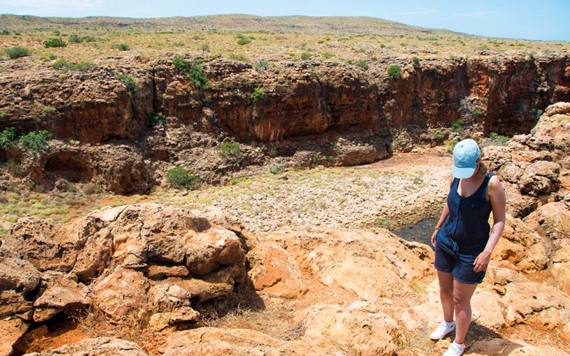 Cape Range -trina-at-yardie-creek-gorge