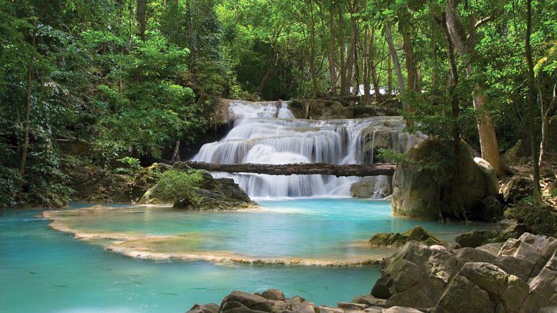 Best time to visit Asia - Erawan Falls, Thailand Asia
