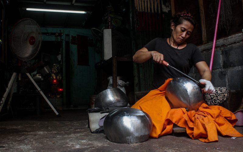 Thailand alms bowls, Bangcock---thailand