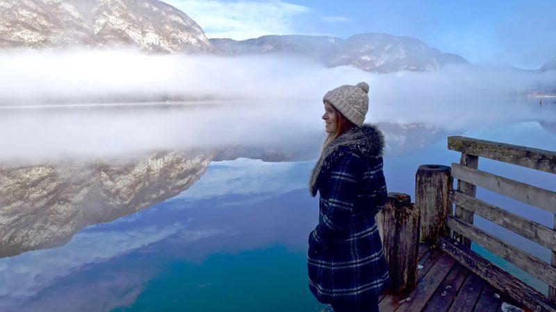 Solo travel, lake-in-Slovenia---Wanderlust-Chloe