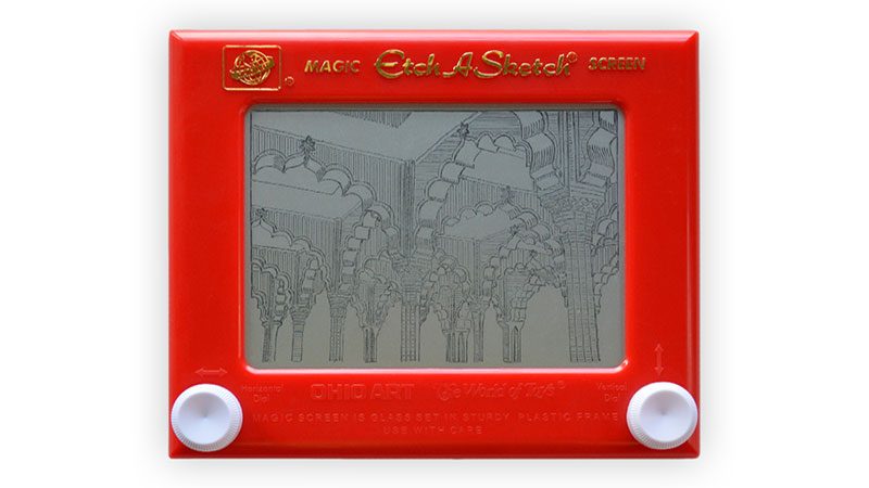 Etch A Sketch India Red Fort
