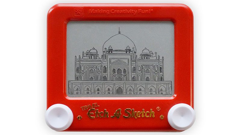 Etch A Sketch India Hamayuns Ttomb