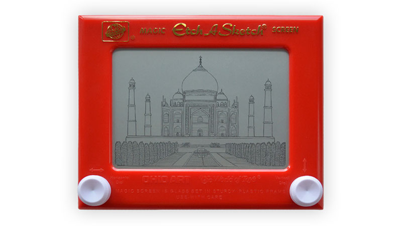 Etch A Sketch India Taj Mahal