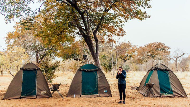 camping-in-botswana
