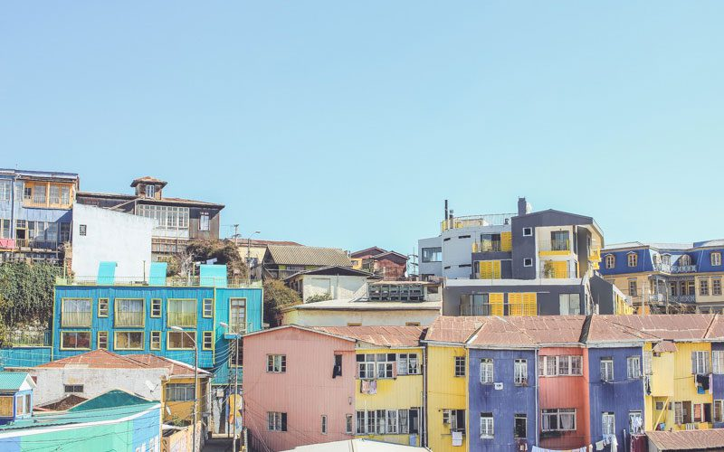 Chile-houses-Valparaiso