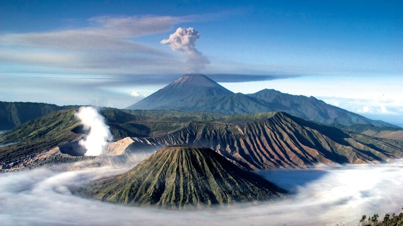 Climbing The Slopes Of Mt Bromo