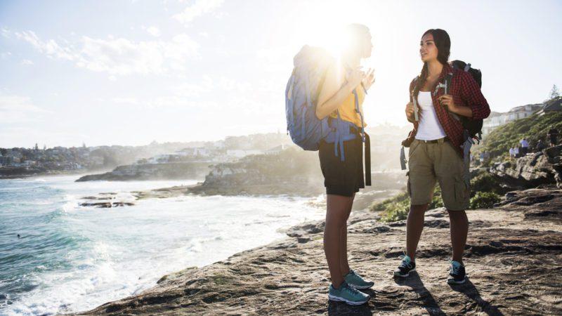 Travel backpacking Australia coastline