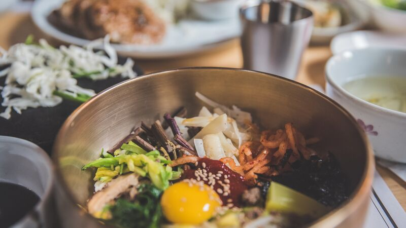 A bowl of bibimbap in South Korea