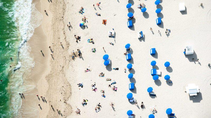 Sunbathing Miami beach
