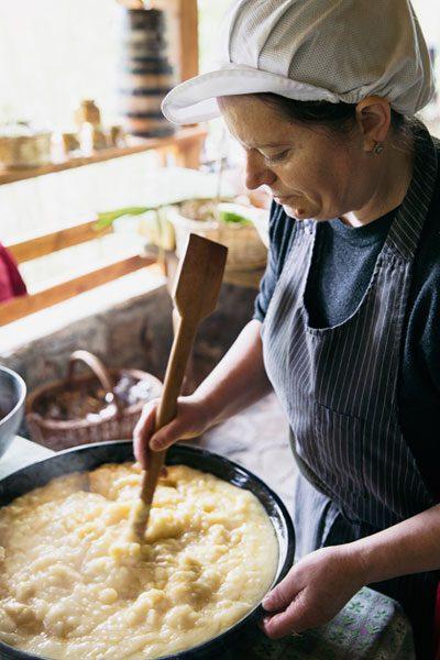 Macedonia food homestay cook Intrepid Travel