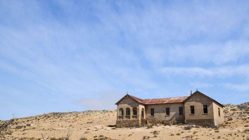 Namibia Kolmanskop house