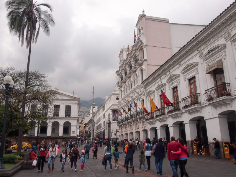 Quito historic center Ecuador