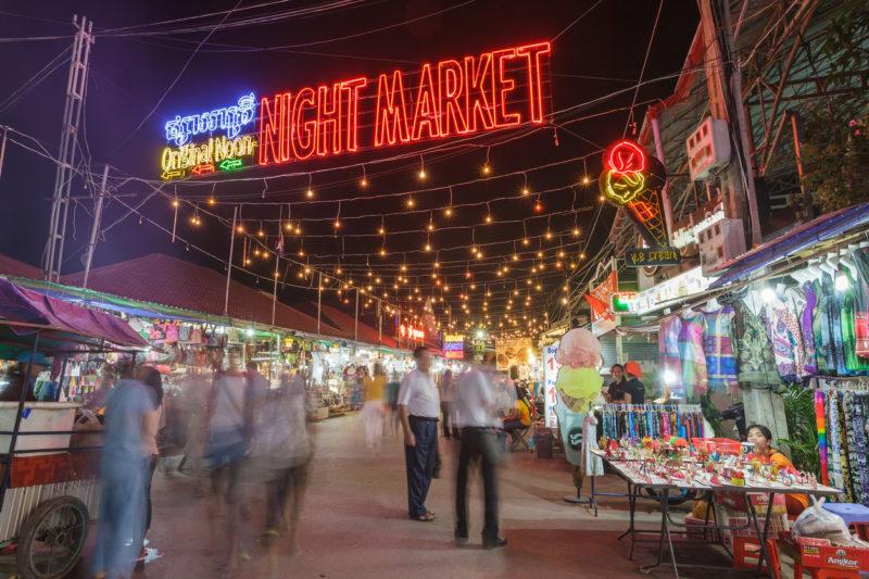 Siem Reap Cambodia market