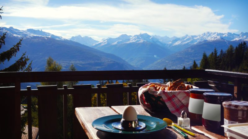 Breakfast in Switzerland, Valais