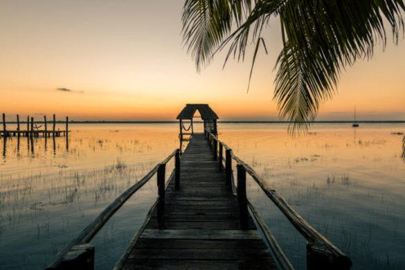 Sunrise Laguna Bacalar Mexico