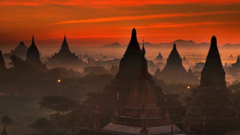 Bagan Myanmar sunrise