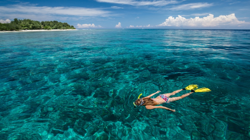 Snorkelling in the Gili Islands