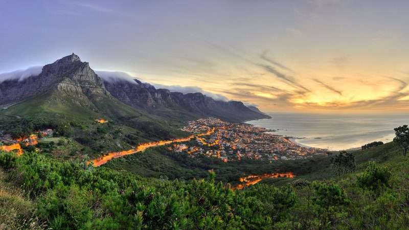Cape Town's Camps Bay at Sunset, South Africa